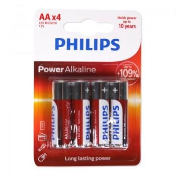 Philips - Zestaw baterii alkaicznych AA/R6 4szt.