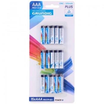 Grundig - Zestaw baterii cynkowych AAA / R03 1.5 V 15 szt.