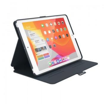 """Speck Balance Folio - Etui iPad 10.2"""" 9 (2021) / 8 (2020) / 7 (2019) z powłoką MICROBAN (Stormy Grey/Charcoal Grey)"""