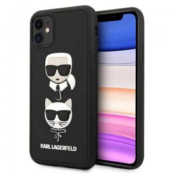 Karl Lagerfeld 3D Rubber Karl & Choupette Heads – Etui iPhone 11 (czarny)
