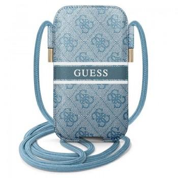 "Guess 4G Printed Stripe Pouch - Torebka na telefon S/M max 6.1"" (niebieski)"