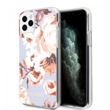 Guess Flower Case N2 - Etui iPhone 11 Pro (Lilac)