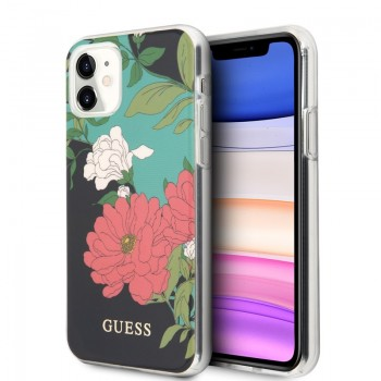Guess Flower Case N1 - Etui iPhone 11 (Black)
