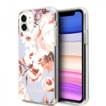 Guess Flower Case N2 - Etui iPhone 11 (Lilac)