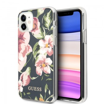 Guess Flower Case N3 - Etui iPhone 11 (Navy)