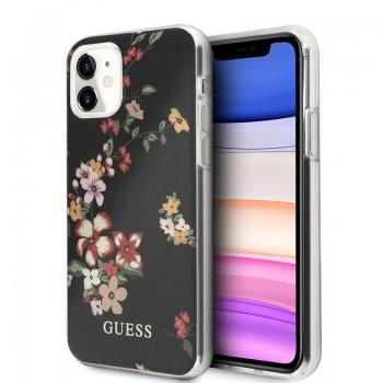 Guess Flower Case N4 - Etui iPhone 11 (Black)