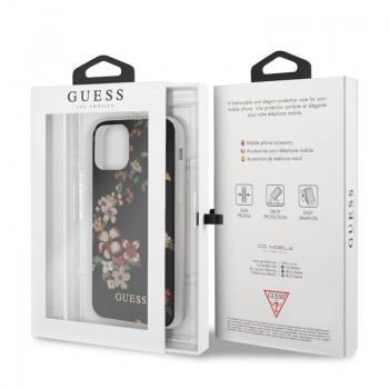 Guess Flower Case N4 - Etui iPhone 11 Pro Max (Black)
